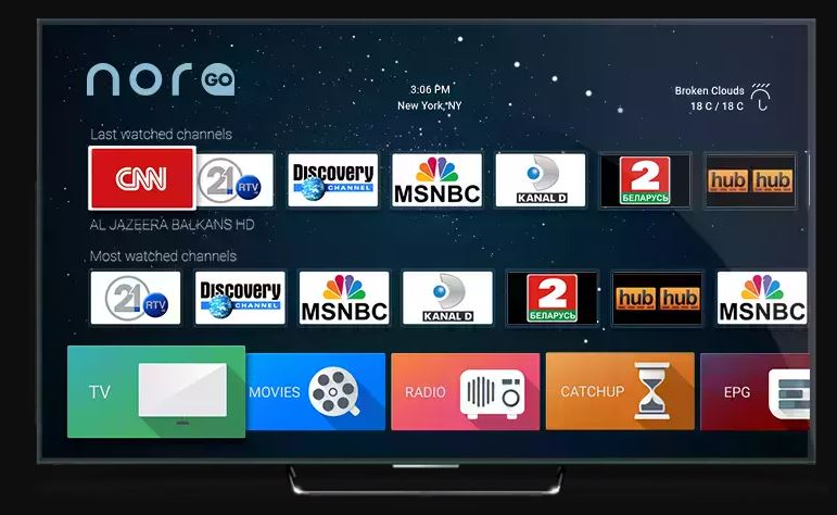 NoraGo IPTV OTT Applicaton