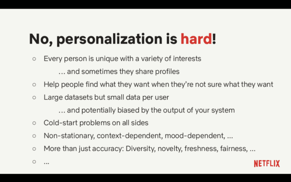 Personalization is hard!