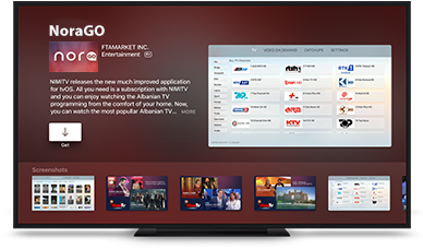 Apple TV install NoraGO App