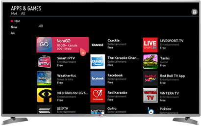 LG Smart TV, NoraGO App
