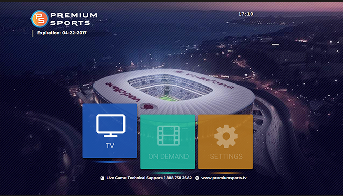 custom interface for iptv sports channels